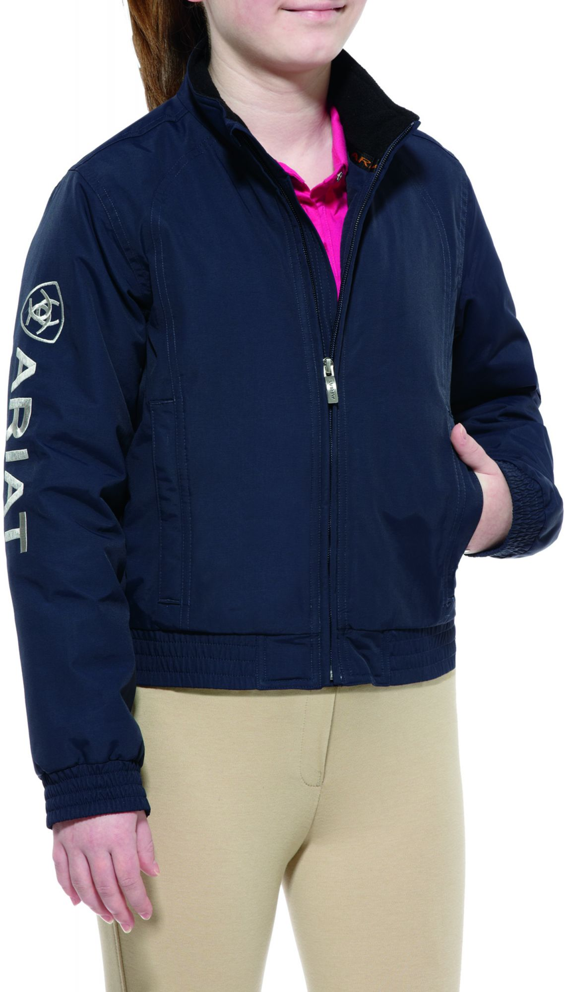 Ariat Youth Team Stable Jacket Navy Childrens Clothing