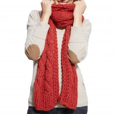 Ariat Cable Scarf Brick