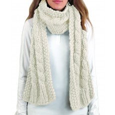 Ariat Cable Scarf Natural