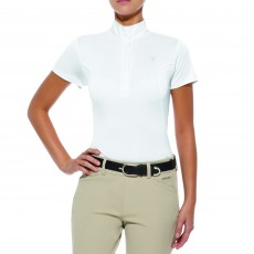 Ariat Aptos Show Top Short Sleeve White