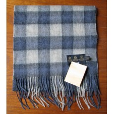 Barbour Gowan Check Lambswool Scarf Blue/Grey