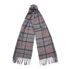 Barbour Bolt Tattersall Scarf Derby Grey
