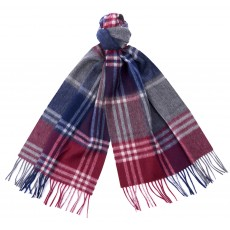 Barbour Kindar Check Scarf Bordeaux/G