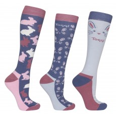 Toggi Women's Mildred 3 Pack Socks Heritage Blue