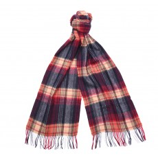Barbour Brignall Lambswool Scarf Red/Navy