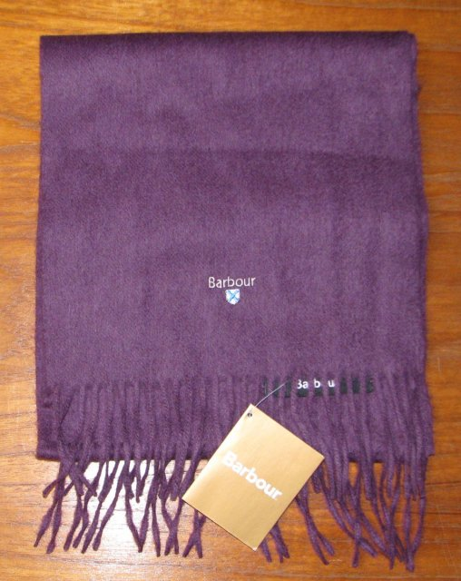 Barbour Plain Lambswool Scarf Thistle
