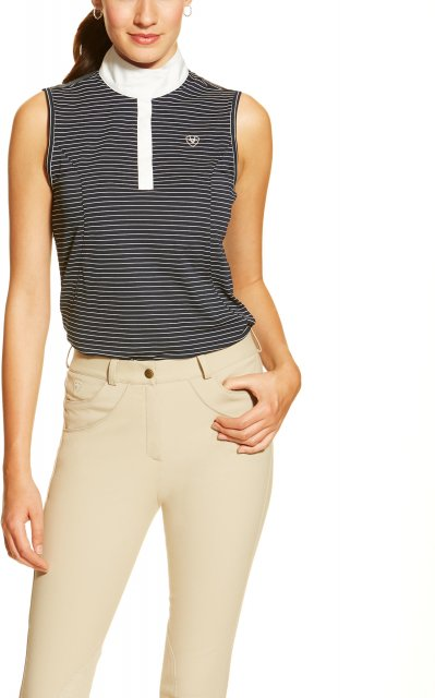 Ariat Aptos Show Top Sleeveless Navy Stripe
