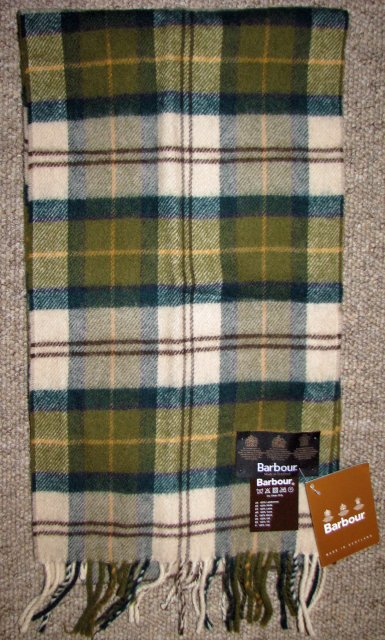 Barbour Tartan Lambswool Scarf Ancient
