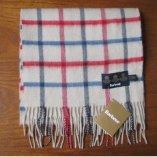 Barbour Bay Tattersall Scarf Navy