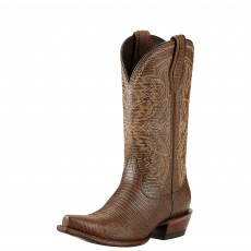 Ariat Women's Alamar Chocolate Lizard Print