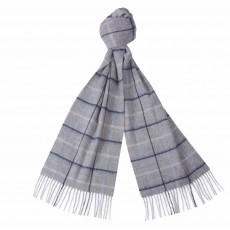 Barbour Country Tattersall Scarf Grey/Blue/Pink