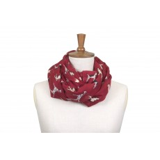 Toggi Whisby Printed Scarf Pomegranate Dog Print