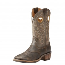 Ariat Men's Heritage Roughstock Western Brooklyn Brown/Ash