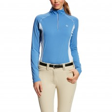 Ariat Women's Tri Factor Quarter Zip Blue Saga