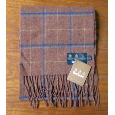 Barbour Newmarket Plaid Lambswool Scarf Rust