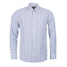 Barbour Men's Tattersall Regular Shirt Mid Blue