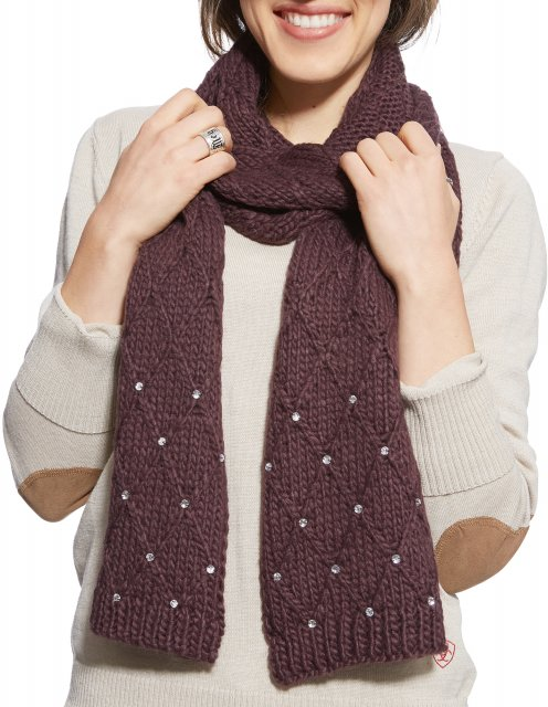 Ariat Sparkle Scarf Mulberry