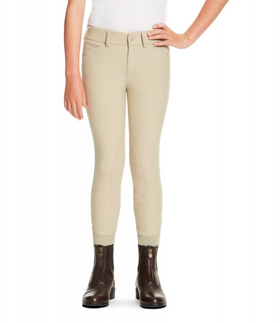 Ariat Youth Heritage Elite Knee Patch Breeches Tan