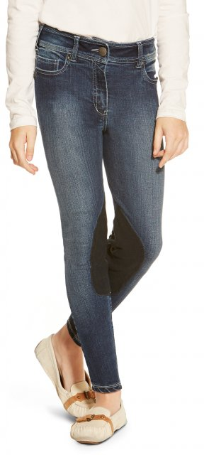 Ariat Girl's Whipstitch Breech Denim Indigo