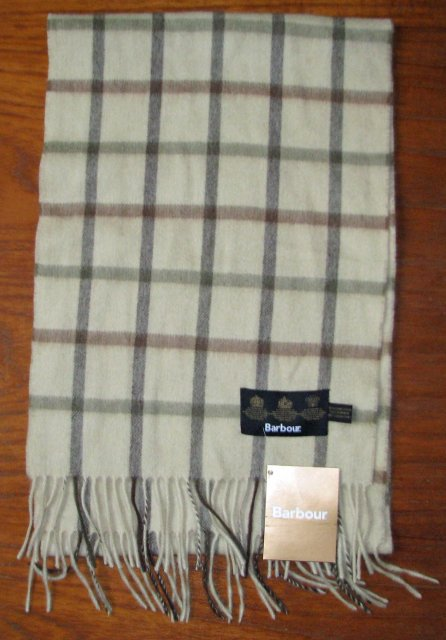 Barbour Bay Tattersall Scarf Olive