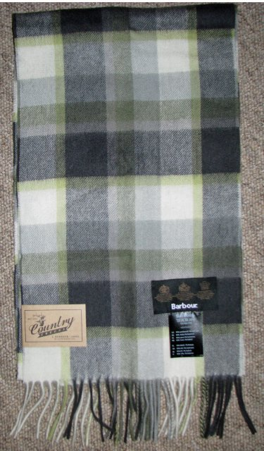 Barbour Country Plaid Scarf Olive Plaid