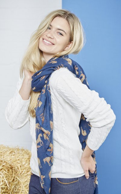 Toggi Fredrica Long Scarf Midnight Blue