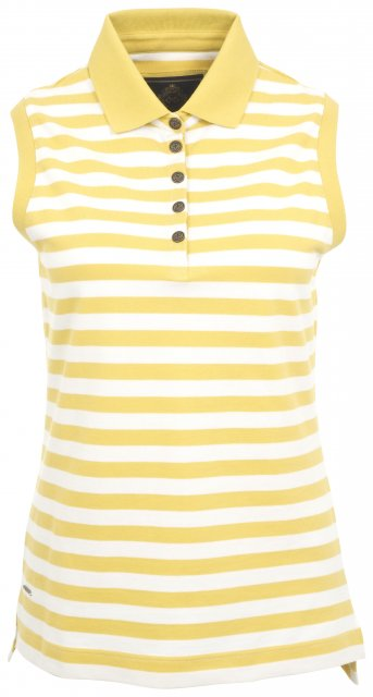 Toggi Women's Magdelena Sleeveless Polo Shirt Yellow Stripe