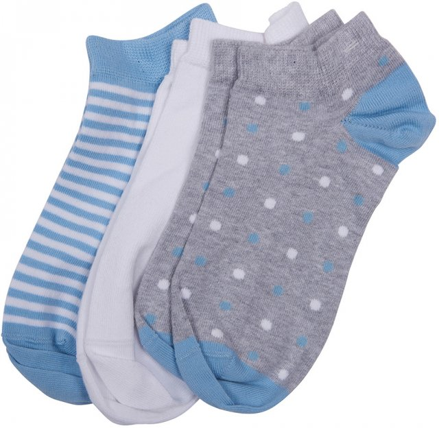 Barbour Women's Spot/Stripe 3 Pack Socks
